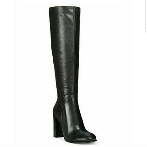 Kenneth Cole NY Tall Leather Riding Heeled Boots